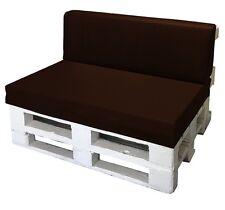 Cuscino per bancale seduta e schienale divano pallet  bancali ECOPELLE MARRONE