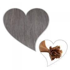 25 Extensions dunkelgrau 45 cm Silber Echthaar Keratin Bondings Grau Remy Hair