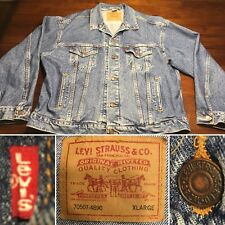 Vintage Levis Denim Trucker Jean Jacket Blue 70507-4890 Extra Large Excellent!