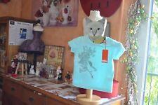 tee shirt marese neuf 3 ans vert aquarelle fleurs dessus