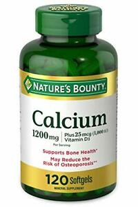 Calcium Carbonate & Vitamin D by Nature's 120 Count (Pack of 1), Green