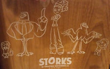 *rare* STORKS movie WINDOW STICKER Andy Samberg Kelsey Grammer Jennifer Aniston
