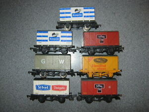 7 Lima OO Gauge Mixed Private Owner Ventilated Vans