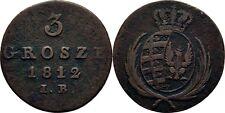 3 Grosze 1812 Polen Warschau Friedrich August von Sachsen, Adler #EA46