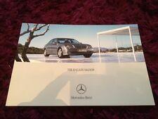 Mercedes-Benz E-Class Saloon Brochure 2006 -11/05 issue