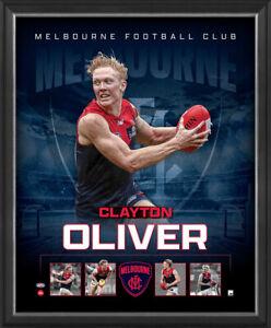 Clayton Oliver Melbourne Demons Official Licensed AFL Print Framed New - 4781