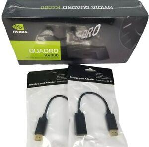 NEW PNY NVIDIA Quadro K4000 3GB GDDR5 DVI DisplayPort HDMI Windows 10 Video Card