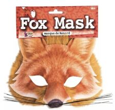 Fox Sublimated Furry Adult Halloween Dress Up Costume Mask