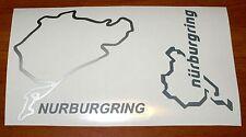 KIT 2 adesivi NURBURGRING decal sticker ritagliato NB pista racing GERMANY