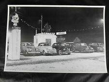"""Ford dealer car lot Pasadena CA about 1950 12 By 18"""" Black & White Picture"""