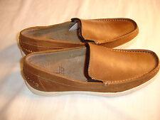 Mens 1958 Style HUSH PUPPIES WINNS  Brown Leather Slip On Shoes Sz 8.5 M NIB