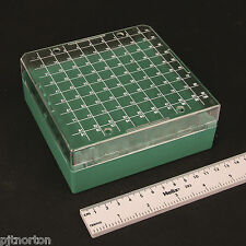100 position tube vial storage box Cryobox Autoclavable with grid rack 1ml 1.2ml