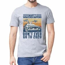 Back to The Future T Shirt 2020 Novelty Top Marty McFly Doc Brown Quote Funny