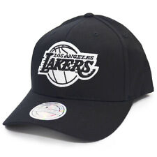Mitchell & Ness NBA Black & White Logo 110 Snapback Cap LA Lakers black