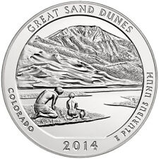2014 5 oz Silver ATB America the Beautiful - Great Sand Dunes, CO (in capsule)