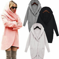 UK Plus Size Womens Autumn Casual Jacket Coat Parka Ladies Long Hoodies Outwear