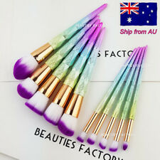 Authentic 10pcs 3D Rainbow Diamond Makeup Brush Foundation Blush Eyeshadow 3046