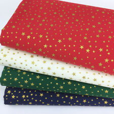 Bundle 4 Xmas fat quarters tiny stars green red ivory & navy 100% cotton no.49