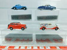 AV160-0,5# 4x Praline H0 PKW: 83406 Cadillac+1103 Opel+1530 MB+2003 BMW s.g OVP