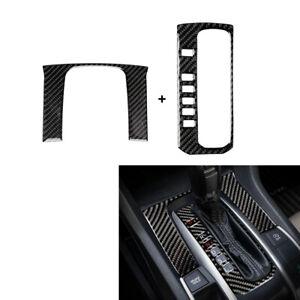 Carbon Fiber Gear Shift Panel Decor Trim Cover Fit For Honda Civic 10th 2016-19