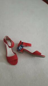 Caprice Sandale - wunderschöne rote Sandalette Gr. 37,5 bequemer Absatz