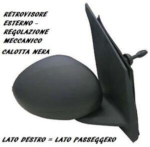 SPECCHIO RETROVISORE MECCANICO C/NERA DESTRO 801880 CITROEN C1 2005 2014