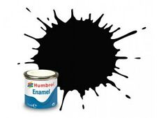 Humbrol 14ml Satin Coal Black enamel paint # 85