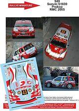 DECALS 1/18 REF 949 SUZUKI IGNIS S1600 PROKOP RALLYE MONTE CARLO 2005 RALLY WRC