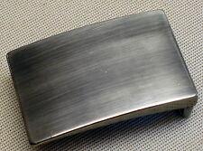 Gürtelschnalle KOPPEL f. Gürtelbreite 3,5cm METALL Farbe: MATTSILBER geschwärzt
