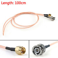 100cm Cable BNC Male Plug To SMA Male Straight Crimp RG316 3ft Jumper Pigtail T2