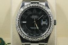 Rolex Datejust II 116300 Black Roman Numeral Dial 2017 Model With Papers Unused