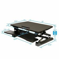 "Airlift Desk Converter Height Adjustable 19.1"" OFF65807 Dual Monitor Riser"