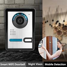 WiFi Sans Fil Interphone Vidéo Sonnette Porte Sécurité IR HD Caméra Vision Nuit