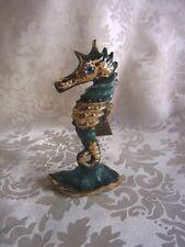 ★ Bronze Figur Seepferdchen mit antiker Patina (339-1)