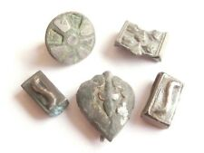 Celtic Silvered Bronze, Billon & Silver Belt Fittings / Mounts - lot of 5 .../2