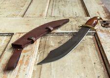 Pirate Sea Marauder Knife Cutlass Short Sword SHARP + Leather Sheath SOLID