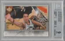 Manu Ginobili / 2007-08 Upper Deck Behind The Glass #MG / Graded BGS 9