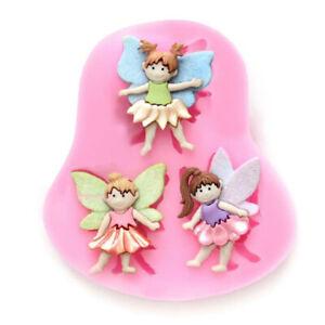 Fairy Angel Silicone Mould Cake Fondant Chocolate Icing Baking Decor Girl Mold
