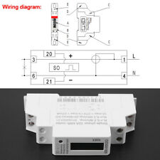 Digital 220V Single phase DIN-Rail Electric Meter 5-32A Electronic KWh Meter