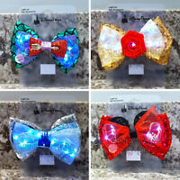 Disney Parks Interchangeable Ears Light Up Ariel Belle Cinderella Minnie Bow Set