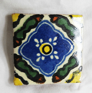 Hand Made & Painted Spanish Glazed Terracotta Wall Tiles - Small Size
