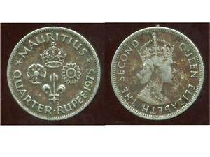 ILE MAURICE  quarter rupee  1975