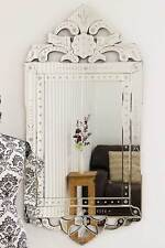 Large Antique Style Detailed Venetian Wall Mirror 4Ft X 1Ft11 122cm X 59cm