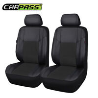 Universal PU Leather 2 Front Car Seat Covers Black For Suzuki Skoda Chevrolet vw