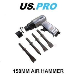 US PRO 150mm Air Hammer Chisel With 4 Chisels 8594