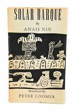Anais Nin, Peter Loomer / Solar Barque Seduction of the Minotaur 1st ed 1958
