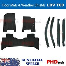 All Weather Rubber Floor Mats+Weather Shield Combo LDV T60 LUXE PRO 2017-2019
