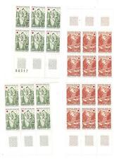 YVERT N° 1661 et 62 x 12 croix rouge 1970 TIMBRES FRANCE NEUFS sans CHARNIERES