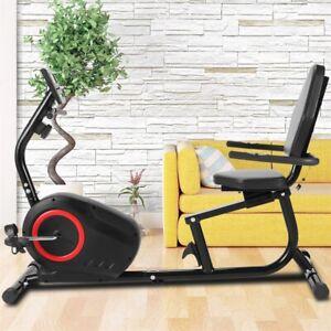 Liegeergometer Heimtrainer Recumbent Fahrrad LCD-Anzeige Sitzergometer 110kg TOP
