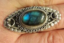 sterling silver labradorite ring size 7.5